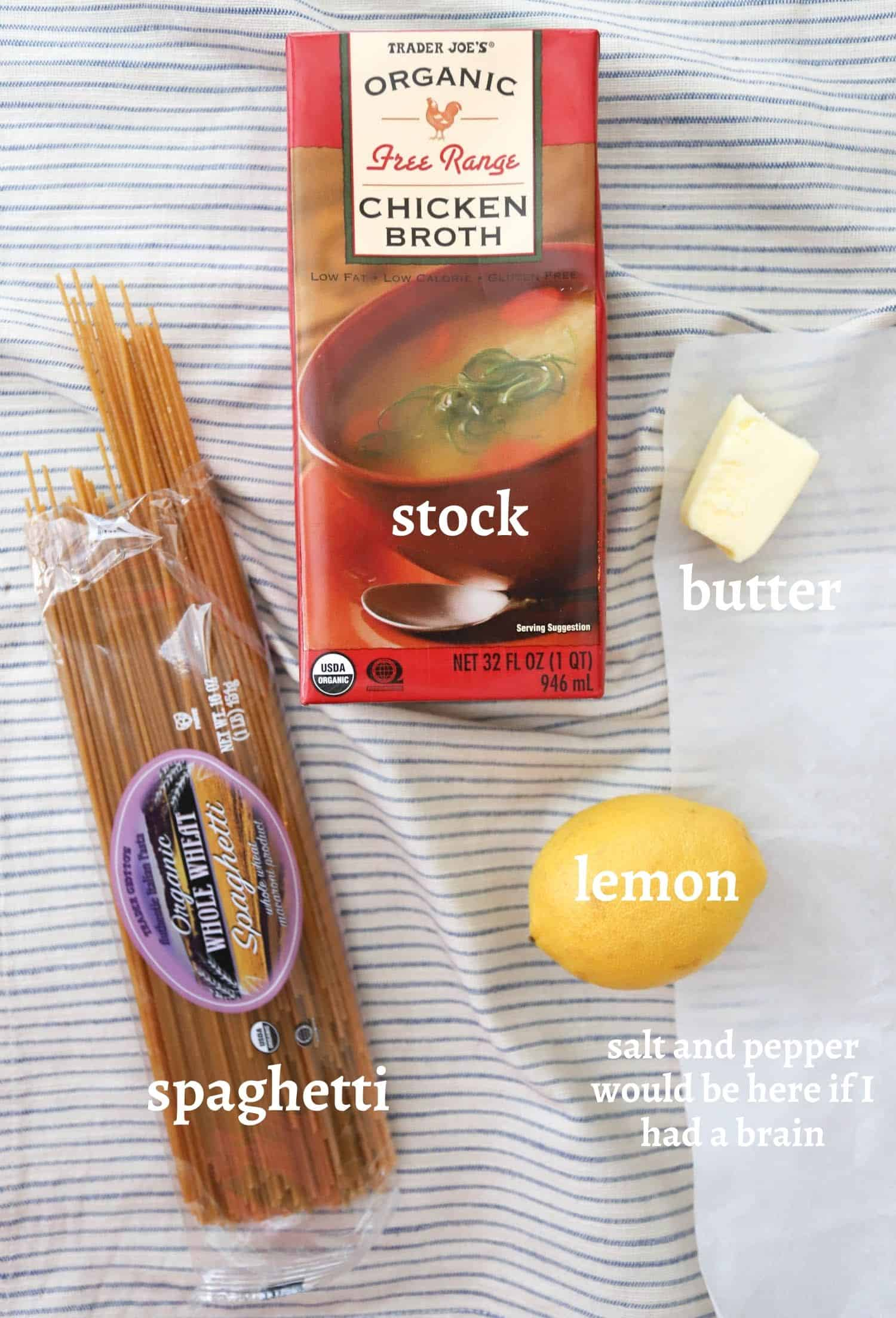 Lemon Pepper Pasta Ingredients