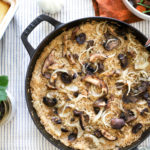 pan of baked rice
