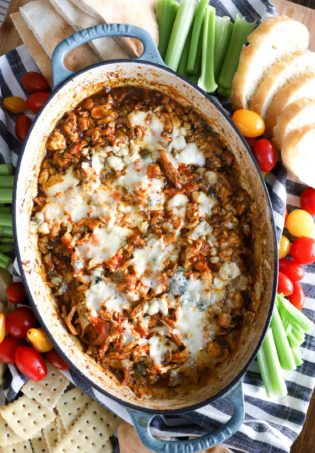 Hot Buffalo Chicken Skillet Dip