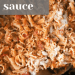 How to make Spicy Sausage Vodka Sauce recipe from funnyloveblog.com