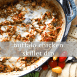 Buffalo chicken skillet dip