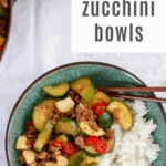 Chinese Beef and Zucchini Bowls