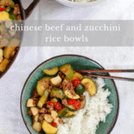 Beef and Zucchini Rice Bowls