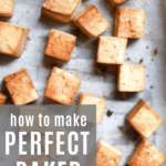 Easy baked tofu recipe for meal prep from funnyloveblog.com