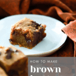 How to make Brown Butter Pumpkin Blondies recipe from funnyloveblog.com