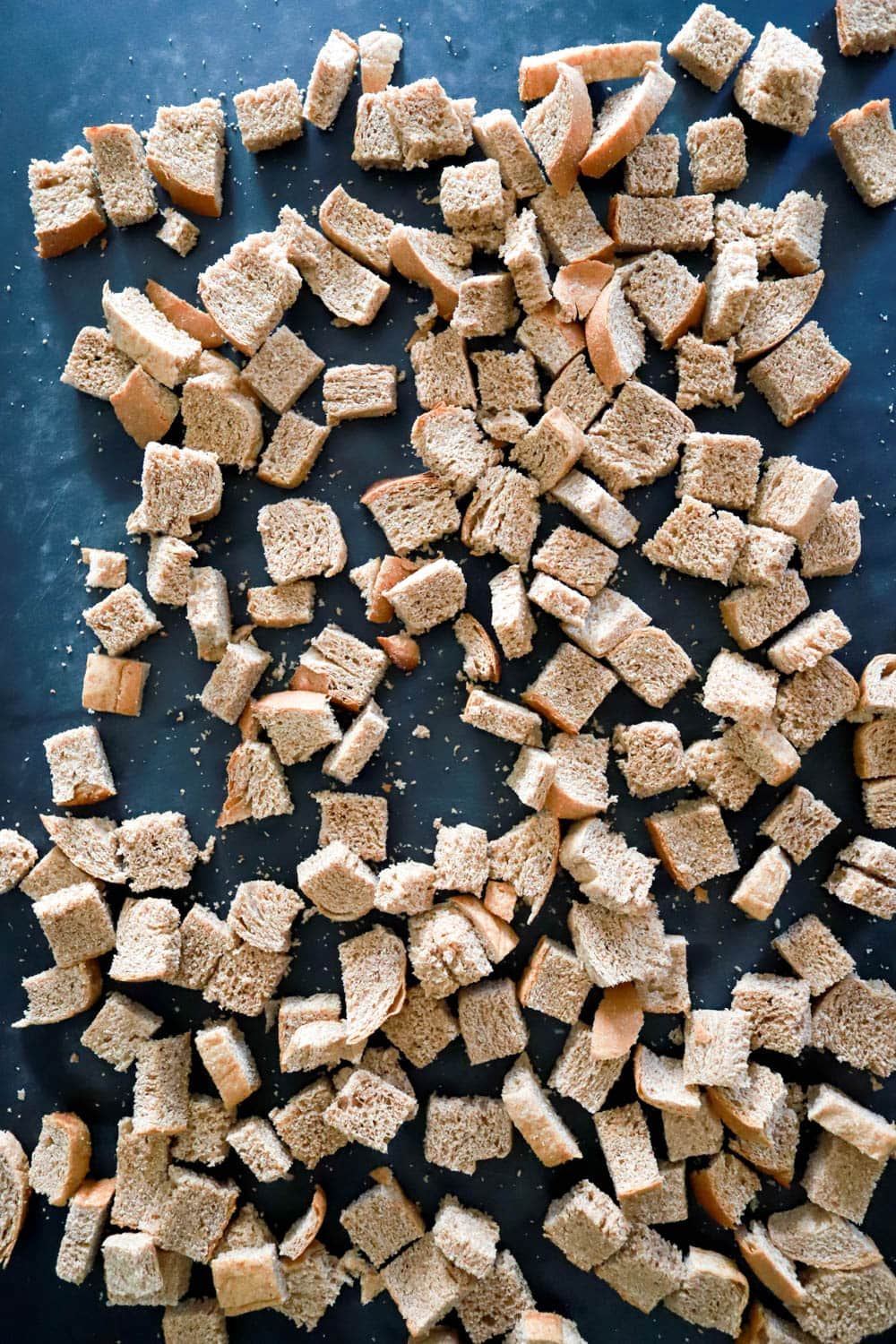toasted bread for simple sausage stuffing