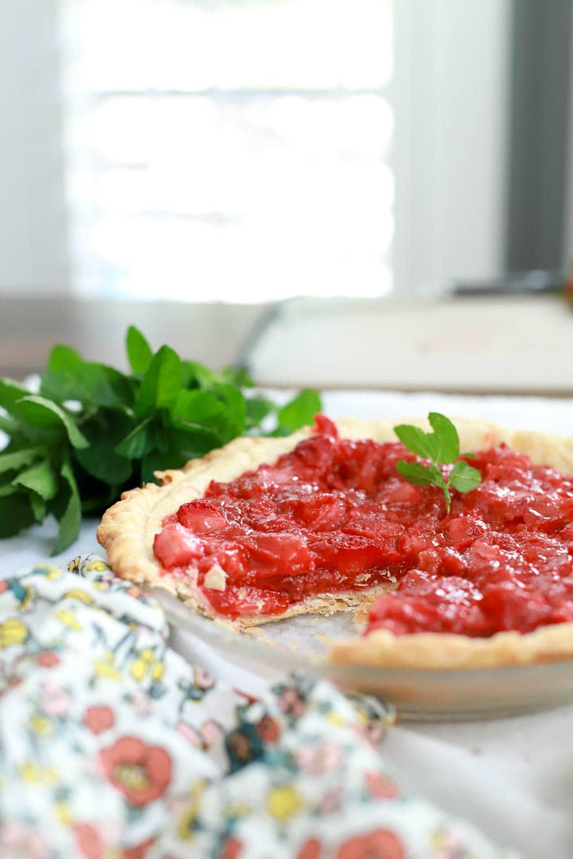 easy strawberry pie recipe without jello