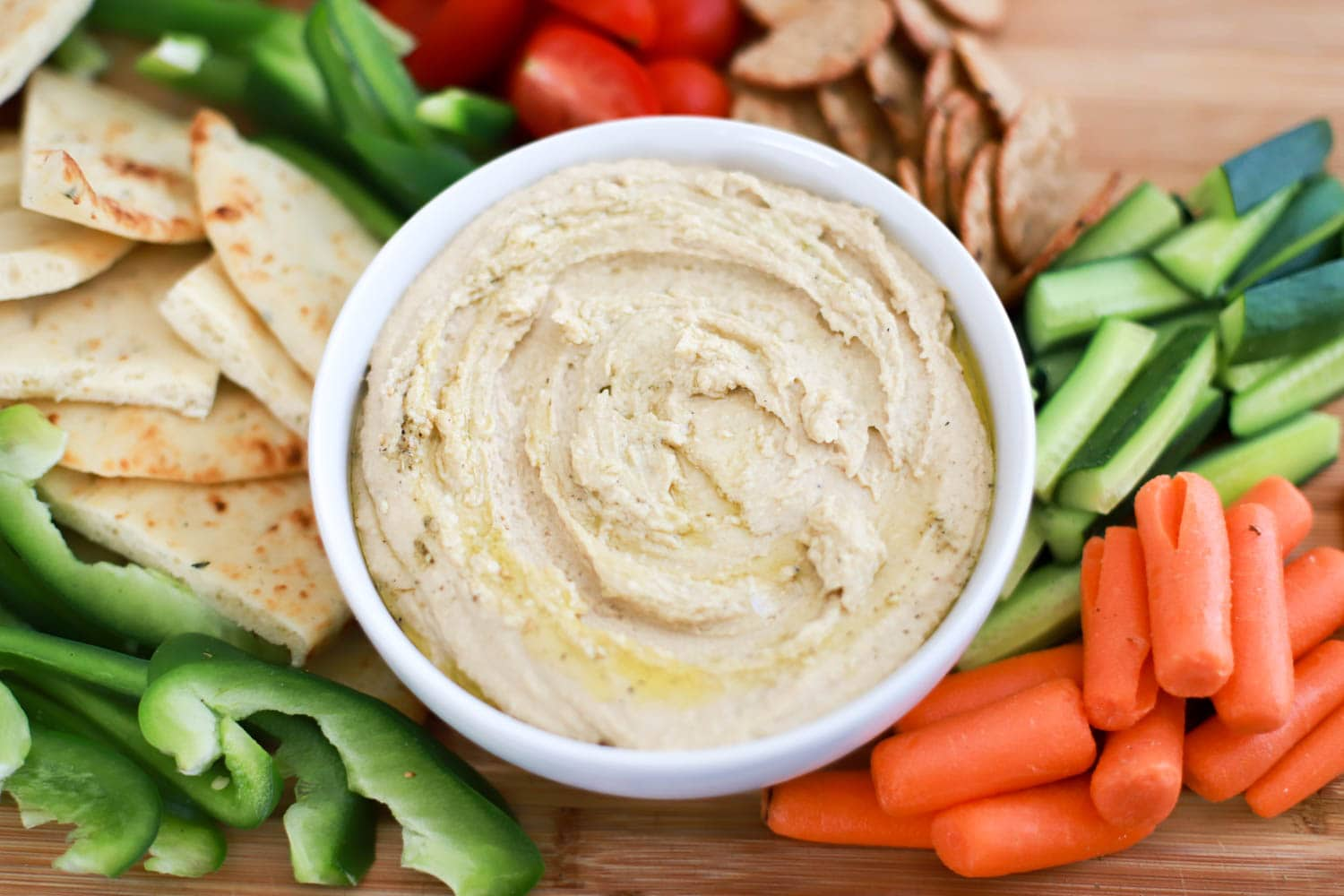 Easy 2-ingredient shortcut hummus