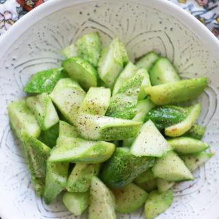 3-Ingredient Smashed Cucumbers