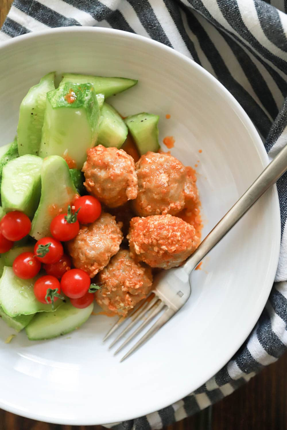 Buffalo Turkey Meatballs Low Carb Gluten Free Dinner