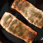 Pan seared salmon cast iron skillet
