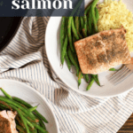 Weeknight seared salmon dinner idea