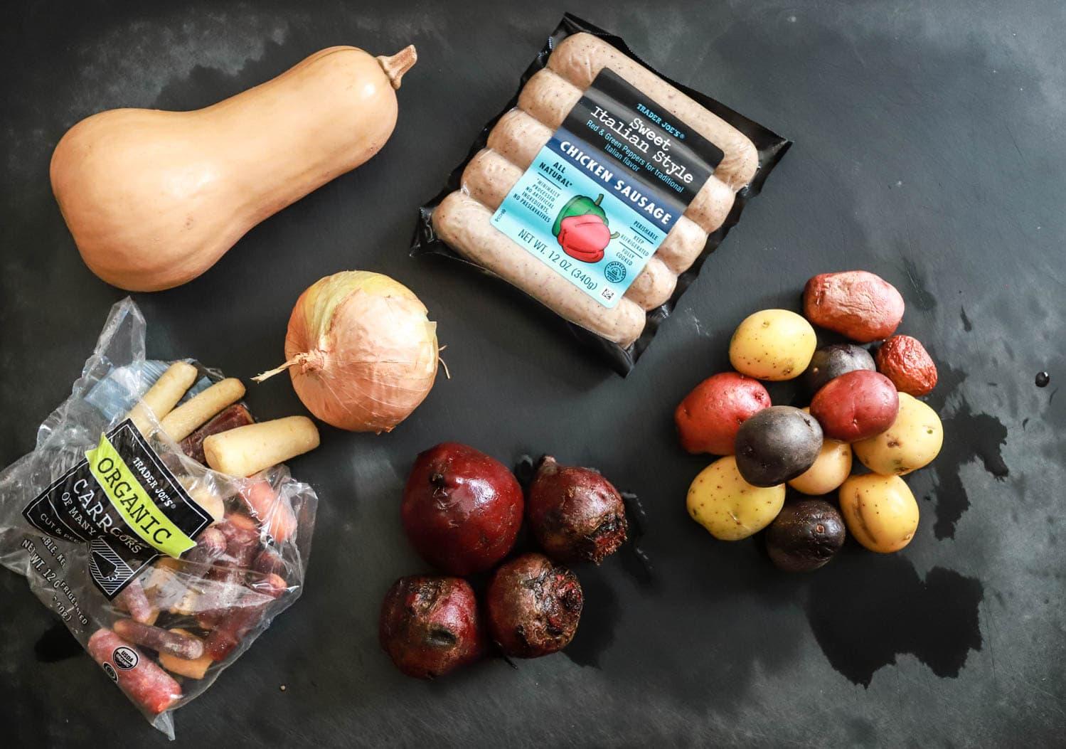 sheet pan dinner ingredients