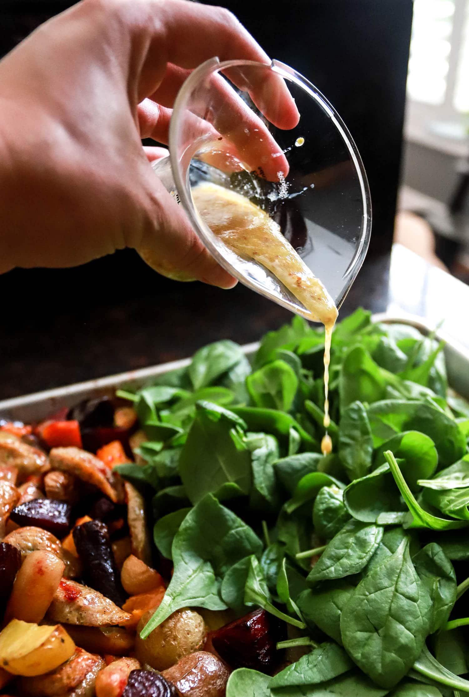 warm spinach salad dressing recipe