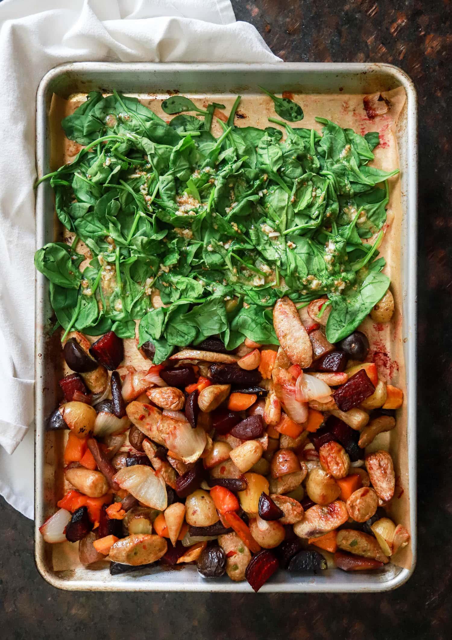 sheet pan dinner ideas sausage