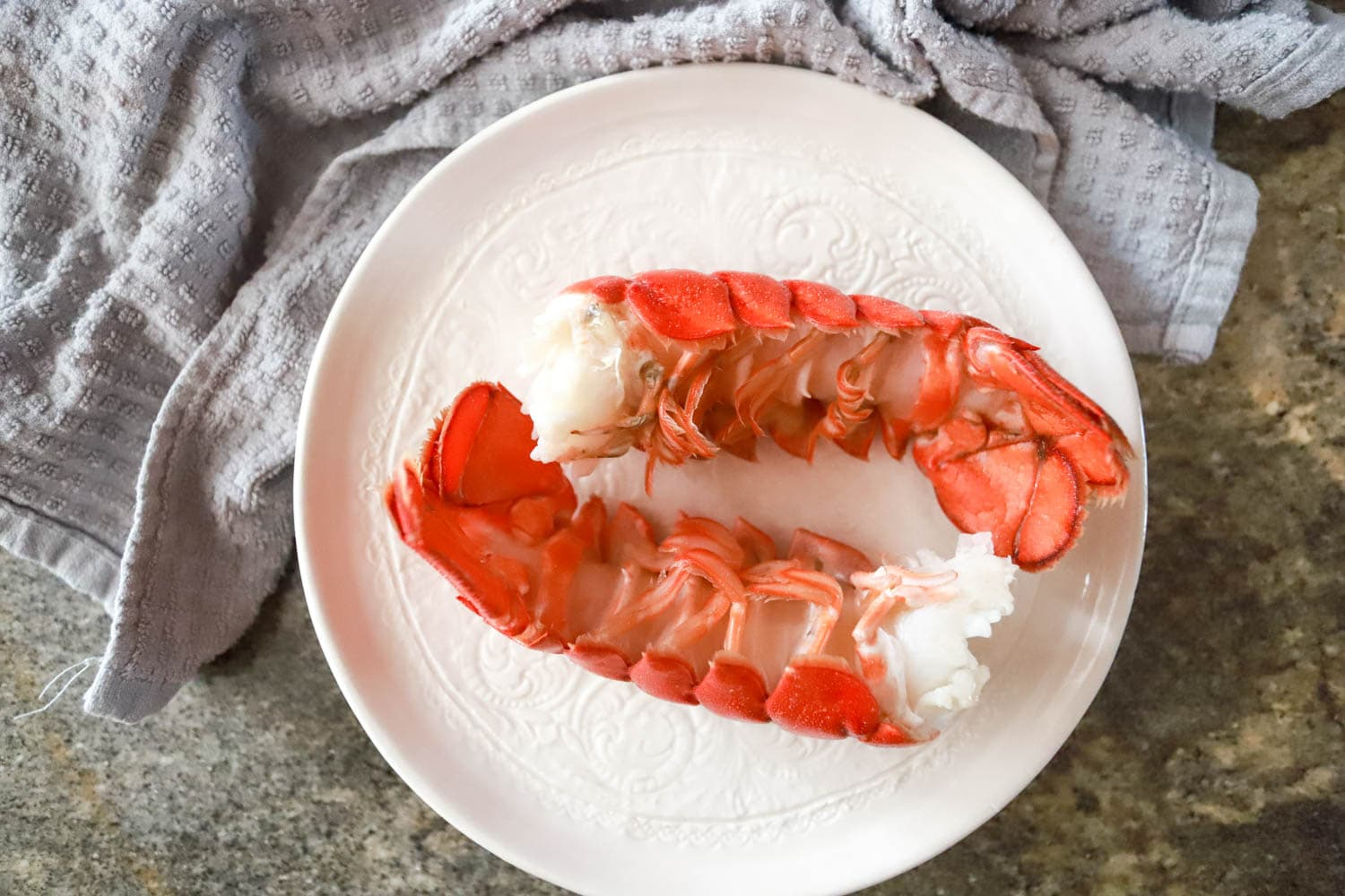 cooked cooled lobster tails