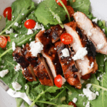Grilled Chicken Salad with Goat Cheese and Walnuts