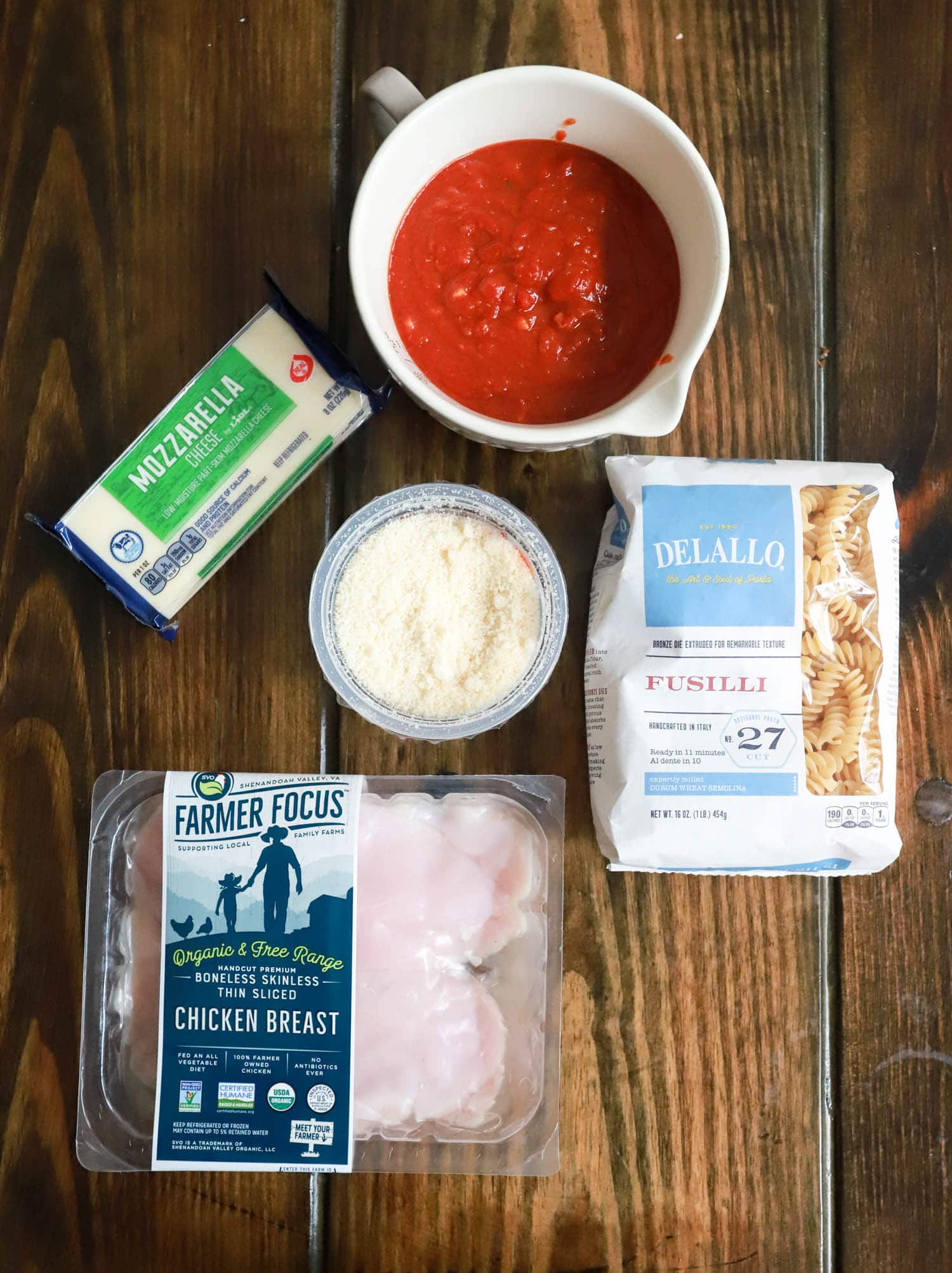 one pot chicken parmesan pasta ingredients