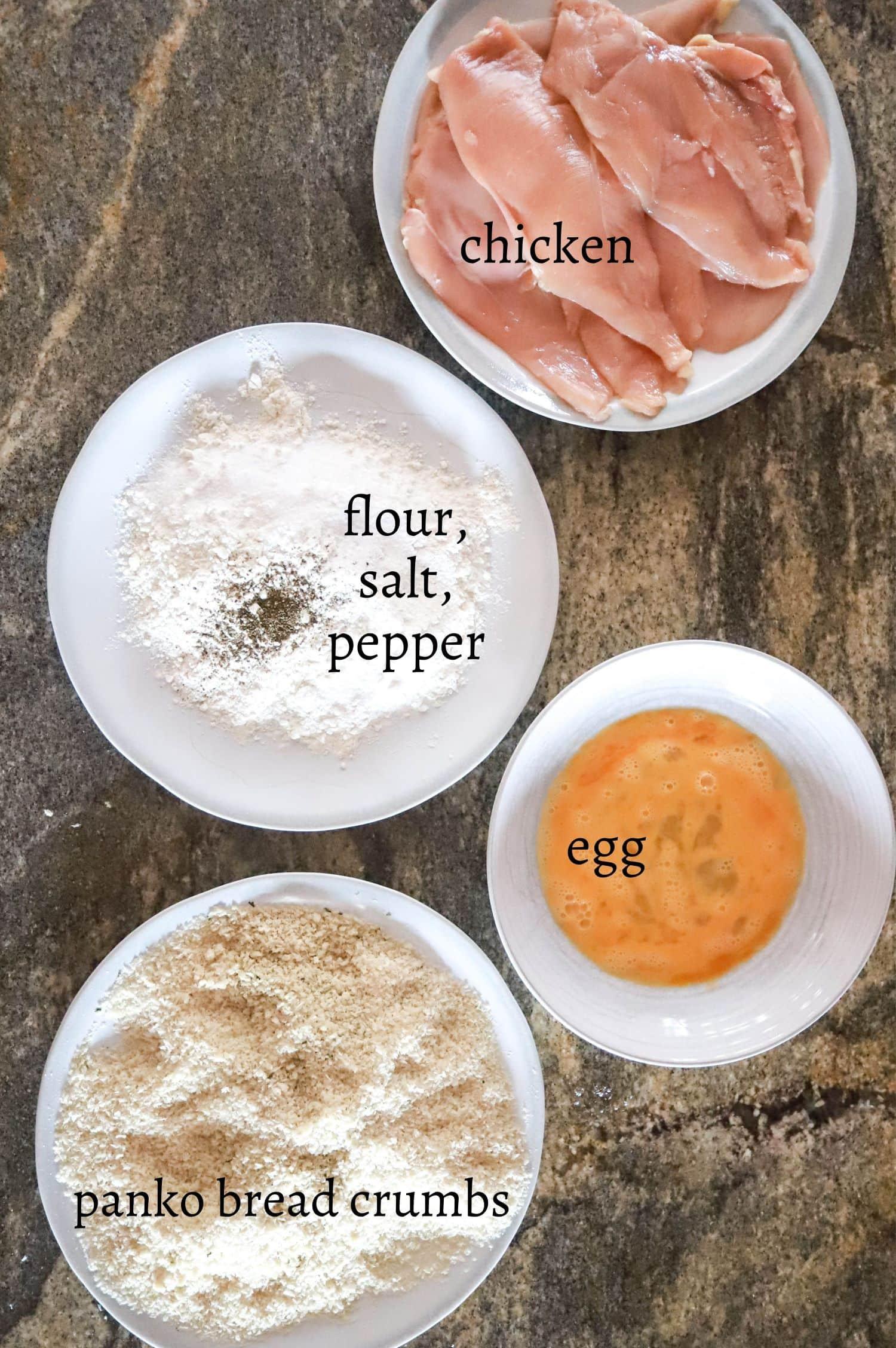 Breading Station Ingredients