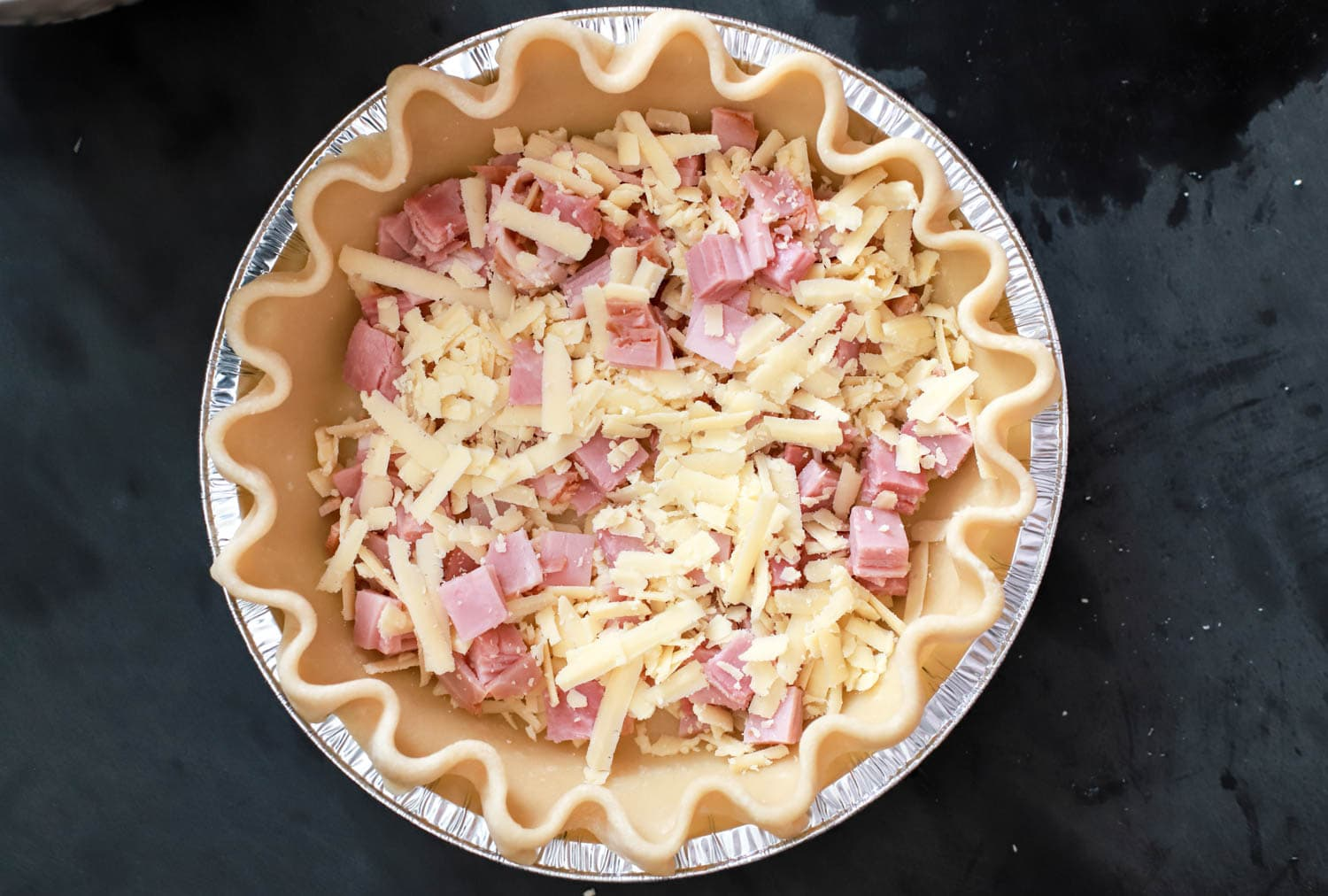 ham and cheese quiche easy filling