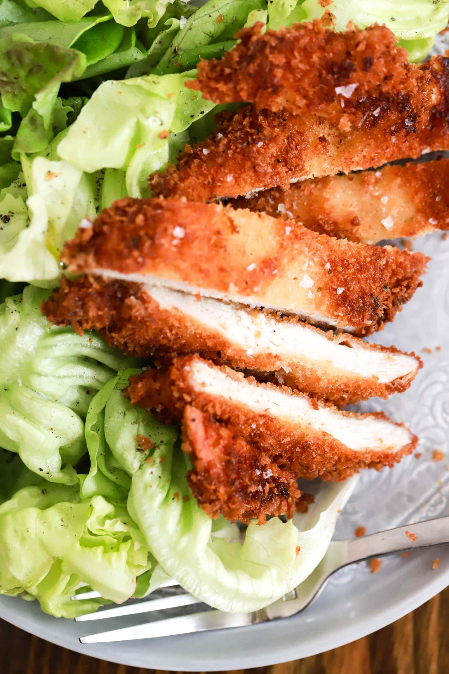 sliced baked chicken cutlets