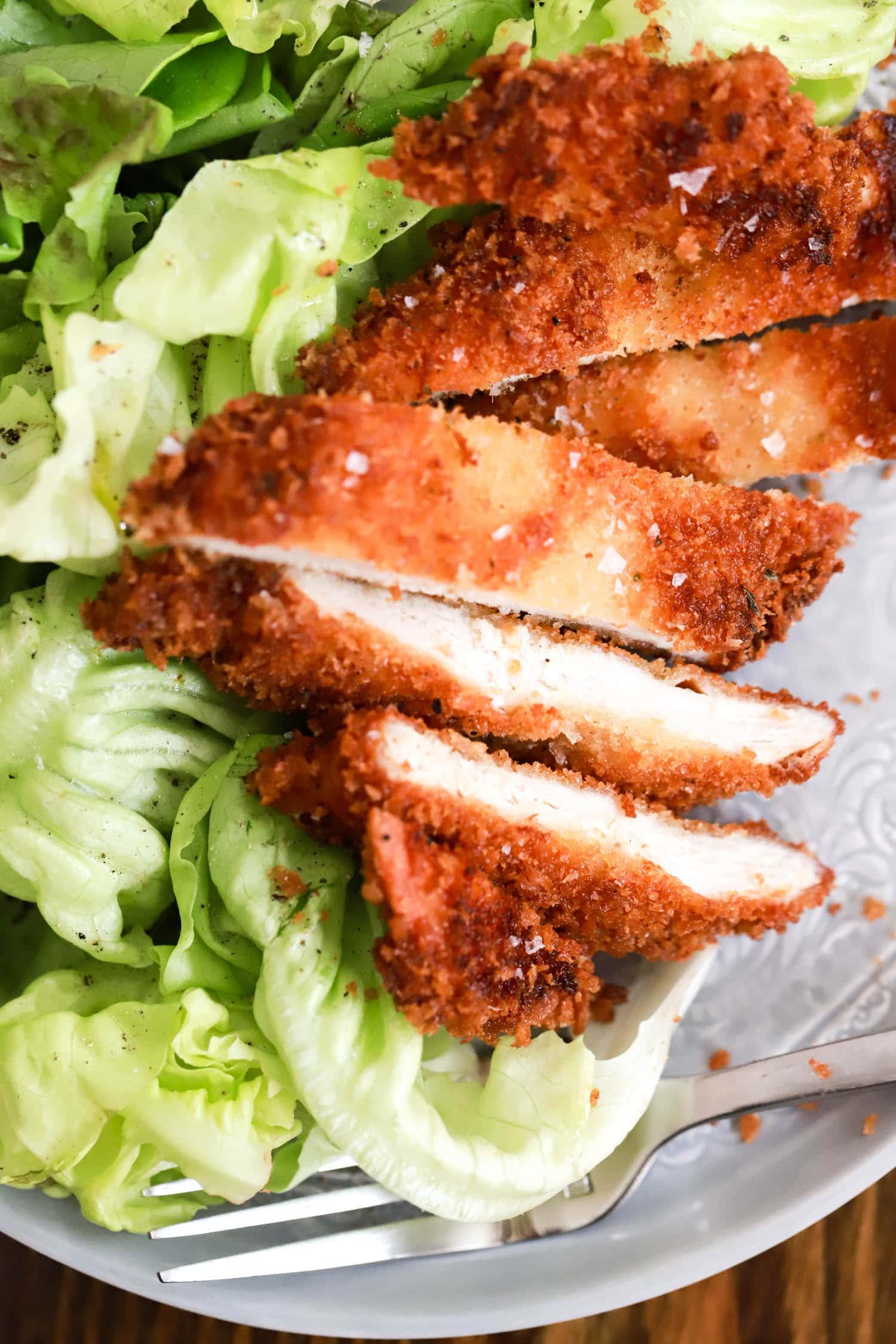 sliced baked chicken cutlets