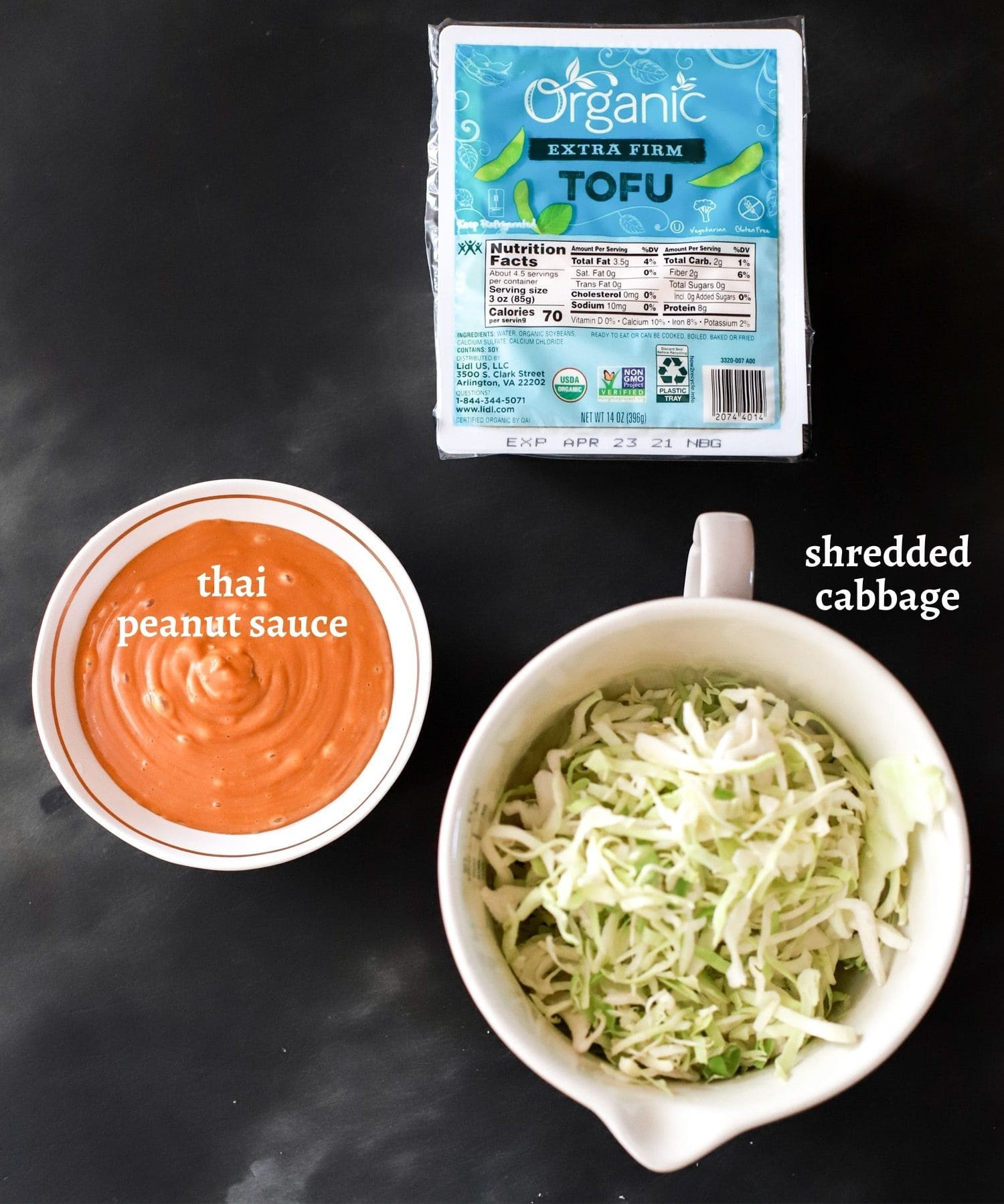 Peanut Sauce Tofu Ingredients