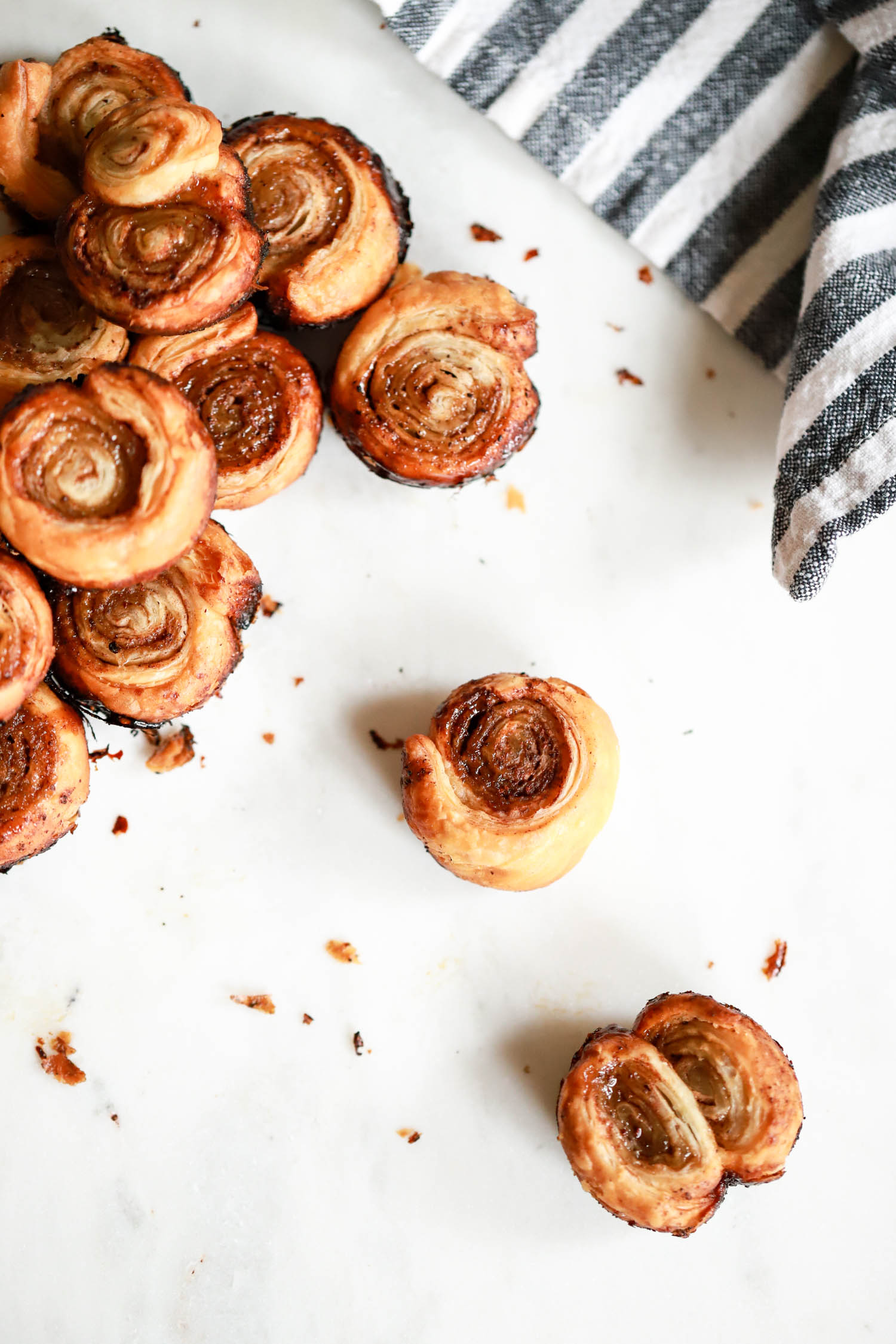cooked puff pastry bites