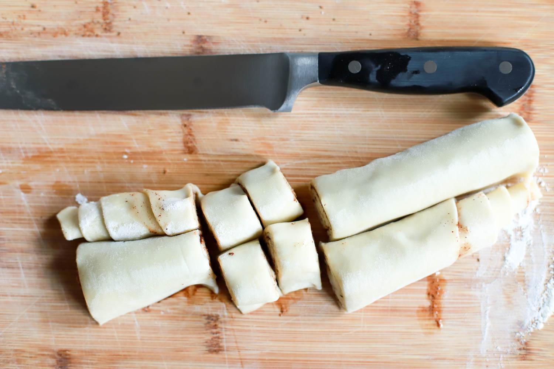 sliced mini cinnamon rolls
