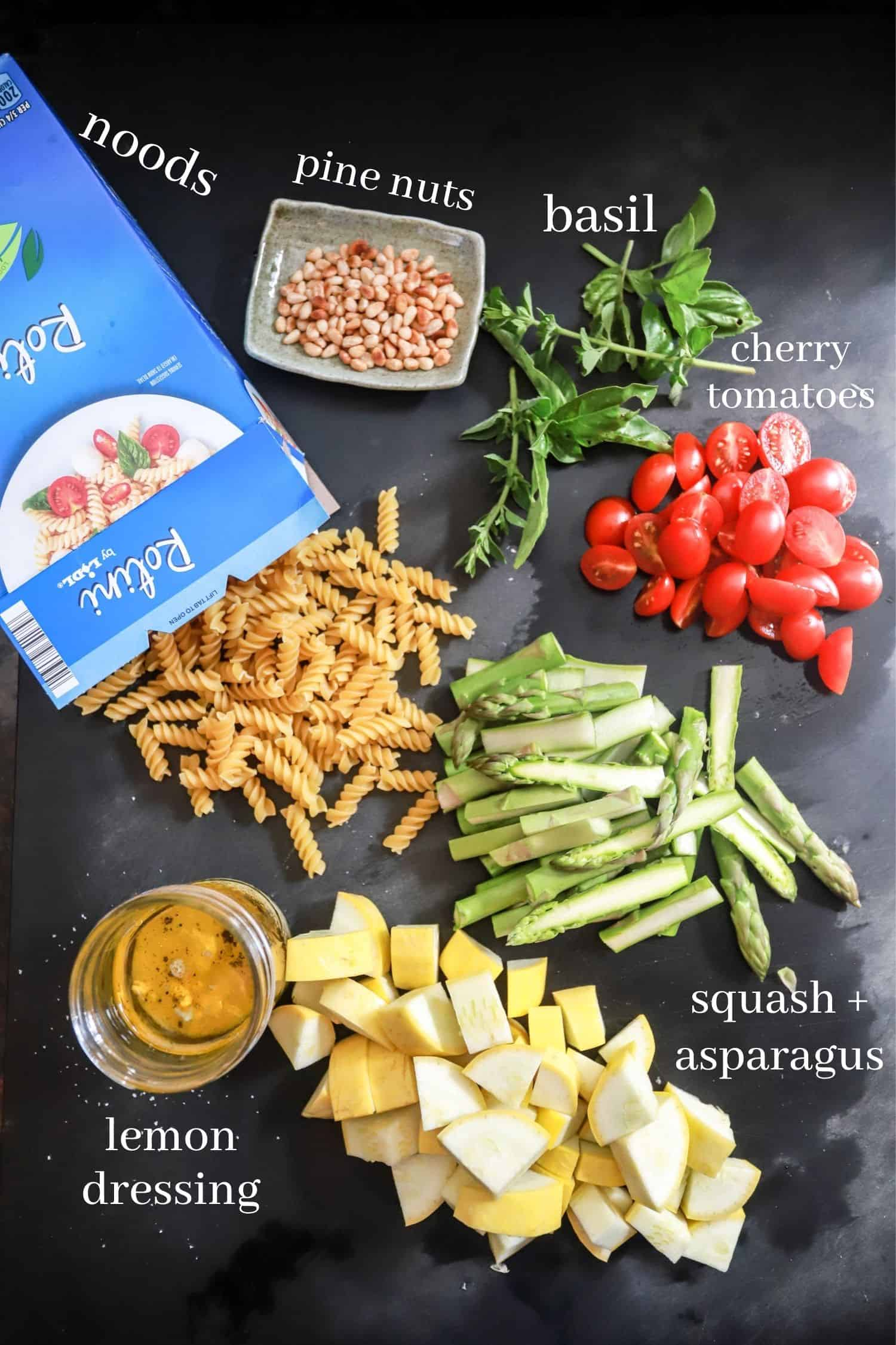 Vegan Pasta Salad Ingredients